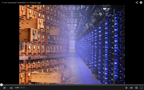 From industrial heartland to the Internet age (screen-capture). Video published by The Mundaneum, 2014
